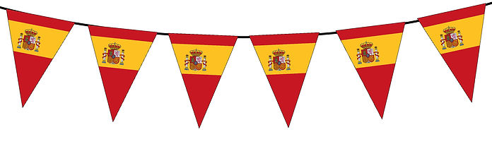 Small Triangle Bunting Flag of Spain