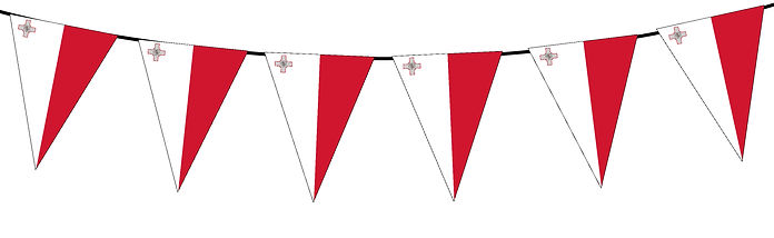 Small Triangle Bunting Flag of Malta