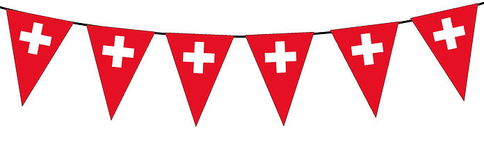 Small Triangle Bunting Flag of Switzerland