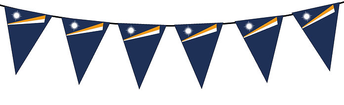 Small Triangle Bunting Flag of Marshall Islands