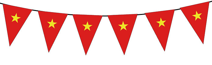 Small Triangle Bunting Flag of Vietnam