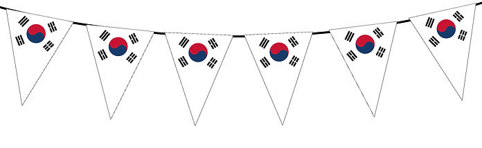 Small Triangle Bunting Flag of South Korea