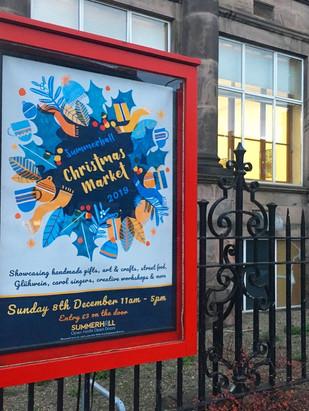 Christmas Market 2019 Poster (in situ)