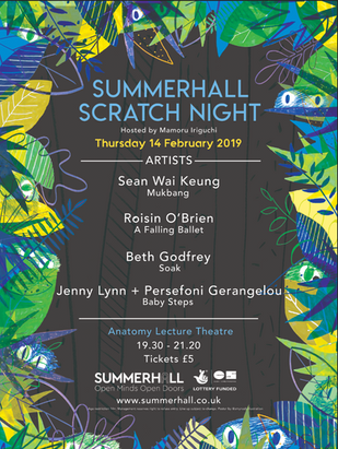 Summerhall Scratch Night Poster 2019