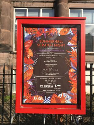 Summerhall Scratch Night: Autumn 2019
