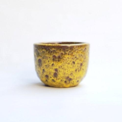 Cachepot Cerâmica Esmaltada Morumby 1 Mostarda