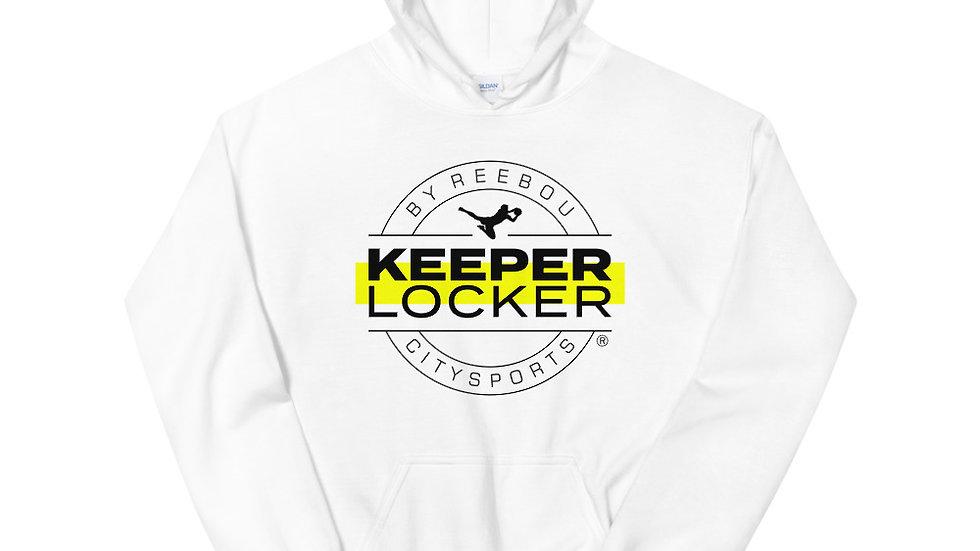 Keeper Locker Unisex Hoodie (White)