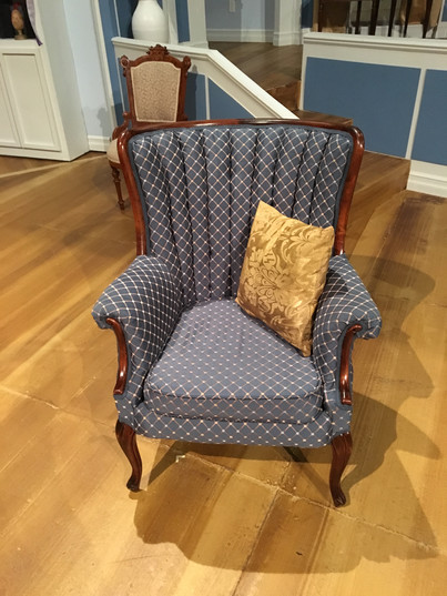 Reupholstered Chair Completed