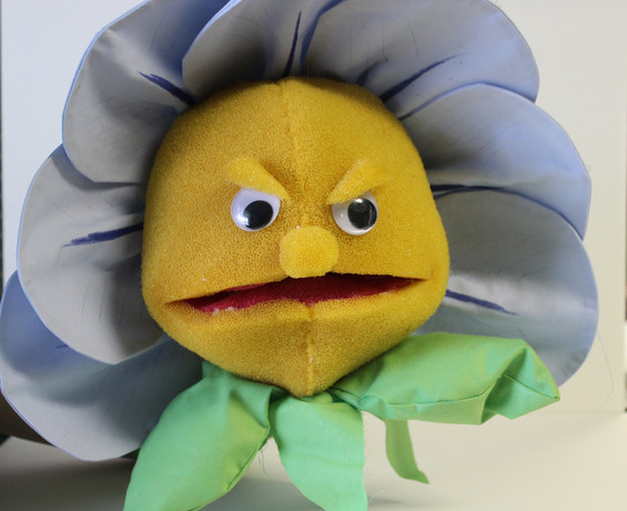 Angry Flower Puppet