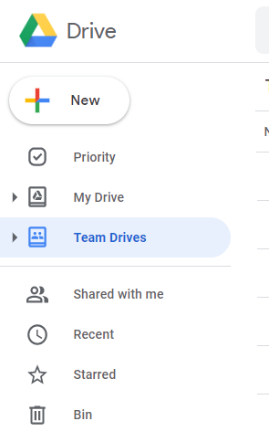 Team Drives before the Update