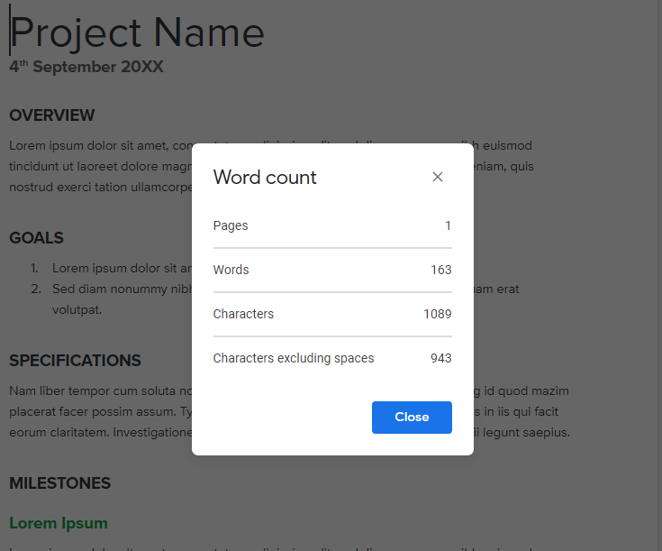 G Suite Tips Google Docs Word Count Display