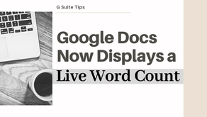 Google Docs Now Displays a Live Word Count
