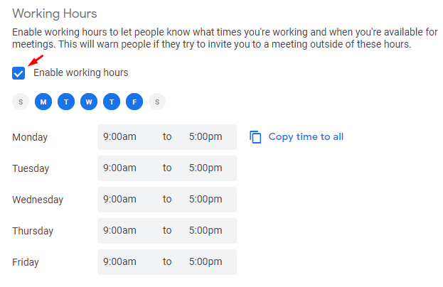 How to Show Your Working Hours on your Google Calendar