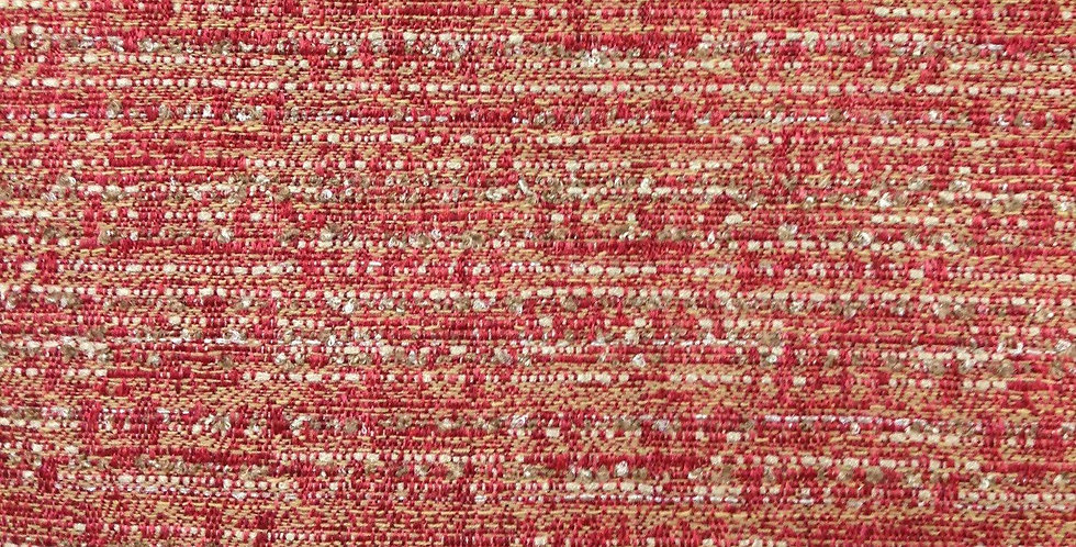 Red, Gold, and Cream Woven Fabric