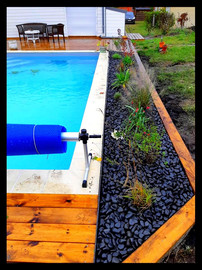 Création massif bord de piscine