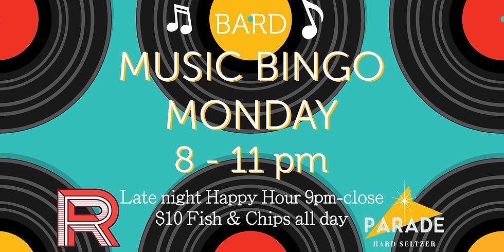 Music Bingo Monday!