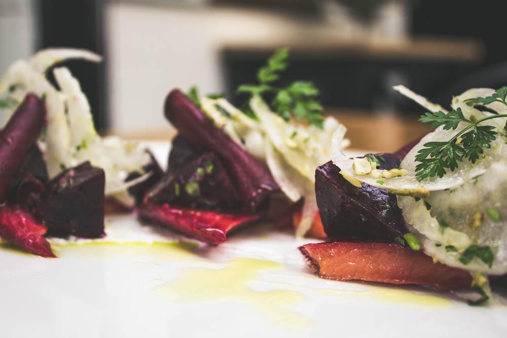 Salmon Beet Salad