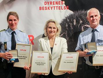 Politifolk kåret til Årets Dyreven 2017