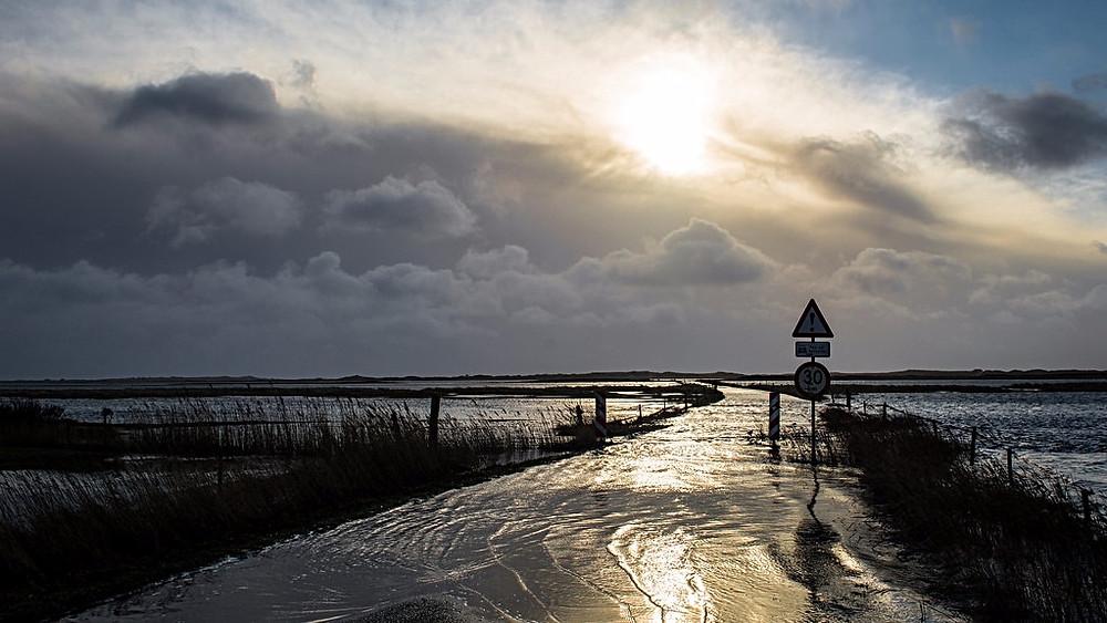Danske kystbyer vil fremover blive ramt hyppigere af oversvømmelser. Her er det Varde i 2015. Foto: Varde Kommune/flickr
