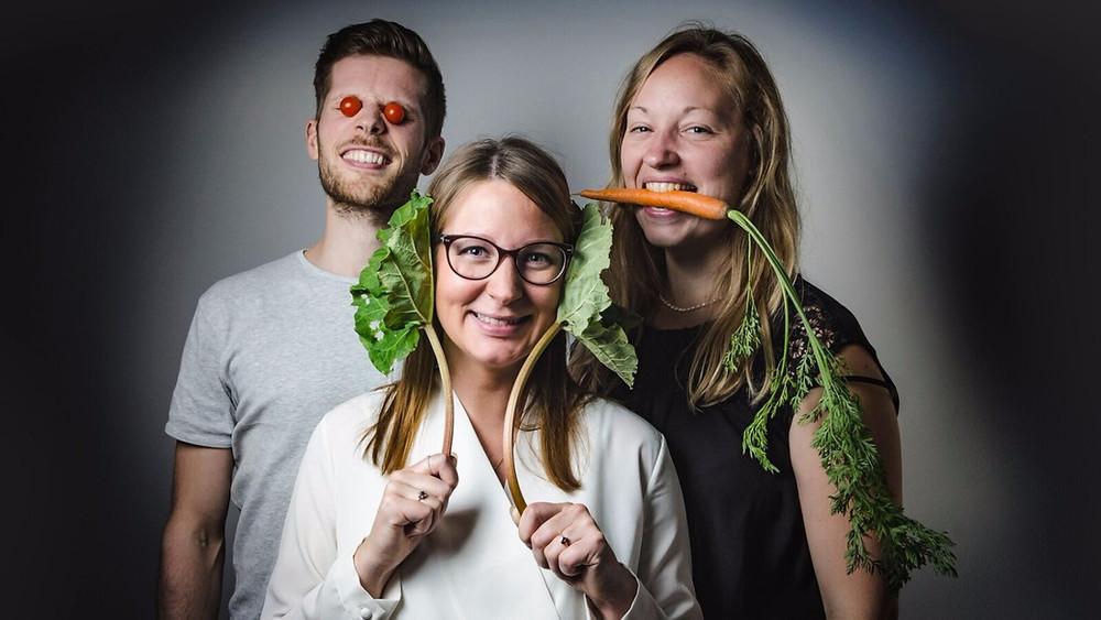 Holdet bag Fairdig - fra venstre: medejer Jesper Pøhler, direktør og medejer Nadia Christensen og direktør og medejer Lise Andersen. Foto: pr