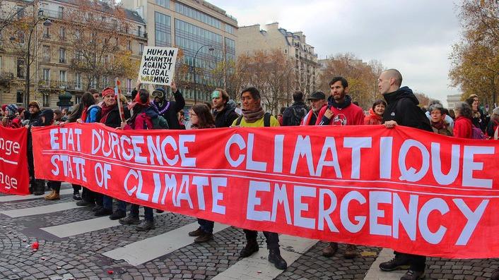 Der blev marcheret for klimaet under klimatopmødet i Paris i 2015. Nu kan det snart være for sent at begrænse opvarmningen til maksimalt 1,5 grader. Foto: Takver/flickr