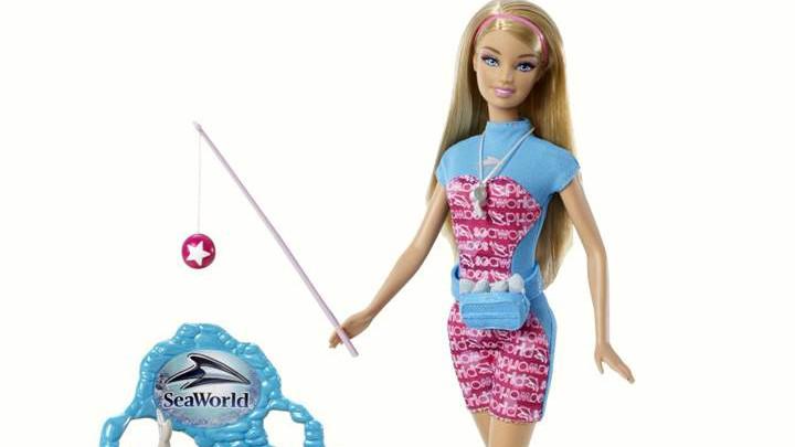 Mattels SeaWorld-Barbie vil ikke længere blive produceret. Foto: PR