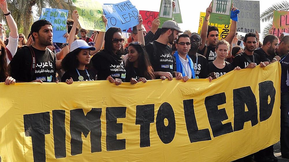 De senere år er der flere steder i verden afholdt folkelige klimamarcher - her en i 2012. Foto: Nathalia Clark/flickr
