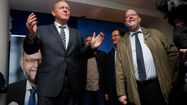 Klimaminister Lars Christian Lilleholt (V) (t.h.) har holdt et hemmeligt telefonmøde med klimadebattør Bjørn Lomborg. Foto: Jens Astrup/flickr