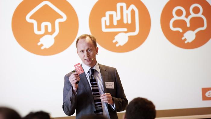 E.ON Danmarks direktør Tore Harritshøj truer med at stoppe investeringerne i Danmark, hvis regeringen slækker på klimaambitionerne. Foto: Thomas Tolstrup/PR