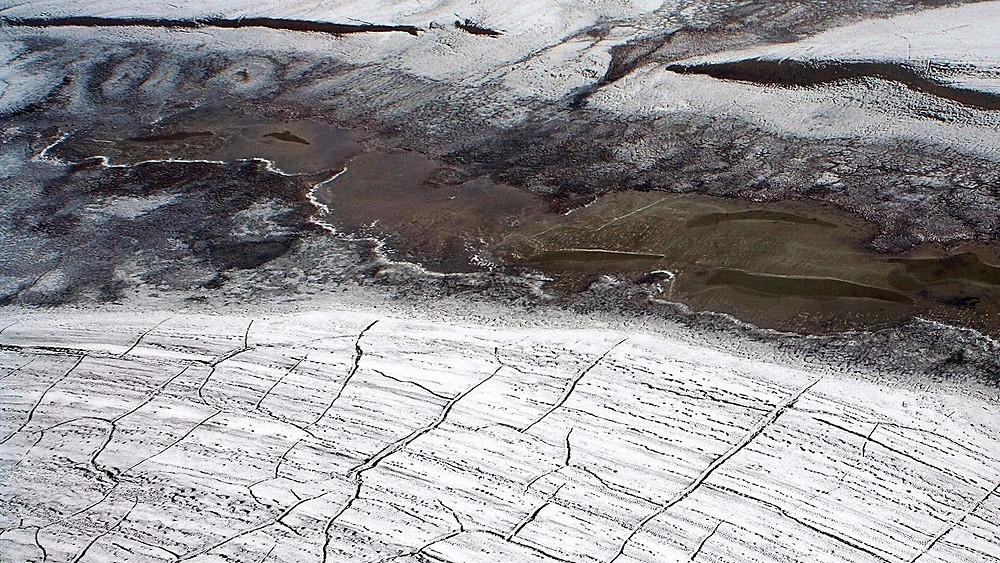 Farlige sygdomme gemt væk i permafrosten kan blive vækket, når isen smelter på grund af global opvarmning. Foto: Wikimedia Commons