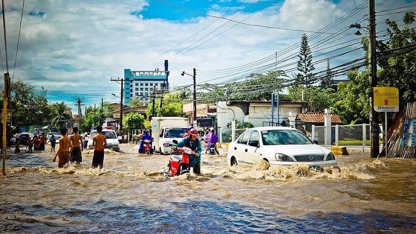 Risikoen for ekstreme vejrfænomener som kraftig regng og oversvømmelser bliver sandsynligvis øget i en varmere verden. Foto: Pixabay