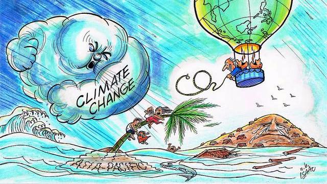 Nobelprisvinderen Brian Schmidt frygter for klimaforandringernes påvirkning på kloden og verdenssamfundet. Illustration UNDP/flickr