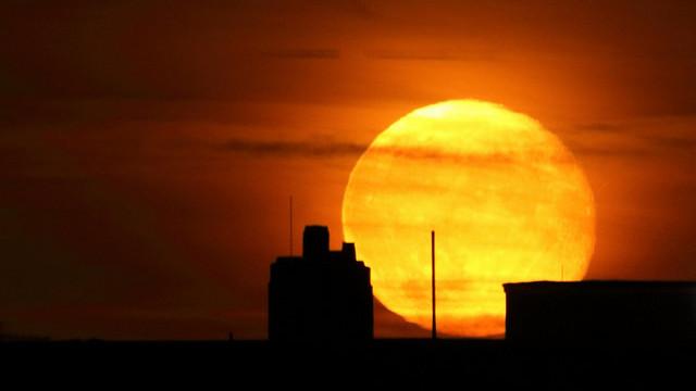 Supermånen lyste nattehimlen op og gav gode forhold for krybskytter. Foto: Jakob Grunig/flickr