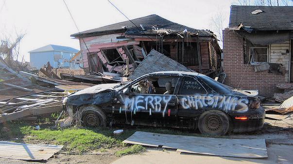 Forskere vurderer, at de menneskeskabte klimaforandringer bidrog med op mod 14 mia. dollars i yderligere skader, da orkanen Katrina hærgede New Orleans i 2005. Foto: Infrogmation of New Orleans/flickr