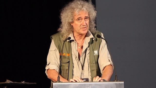 Queen-guitaristen Brian May var i en heftig tv-debat om jagten på ræve. Foto: Mark Kent/flickr