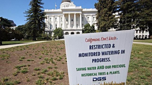 Californien har indført stramme krav til brugen af vand. Derfor vil man bl.a. se mange brune græsplæner, da de sjældent vandes. Foto: Roam and Shoot/flickr