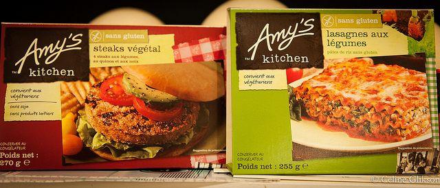 Eksempler på nogle af færdigretterne lavet af Amy's Kitchen. Foto: Céline Glikson