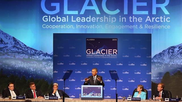 Barack Obama besøgte som den første amerikanske præsident Arktis, hvor han så klimaforandringernes effekt. Foto: U.S. Department of the Interior