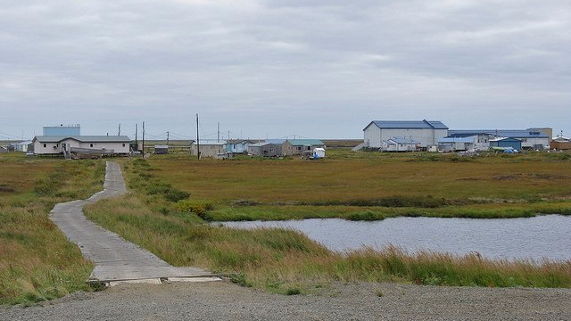 Newtok er en blandt flere bysamfund i Alaska, der må flytte på grund af klimaforandringernes følger. Foto: Travis/flickr