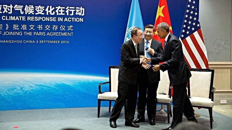 I begyndelsen af september mødtes den amerikanske og kinesiske præsident for at godkende klimaaftalen. Foto: Pete Souza/flickr