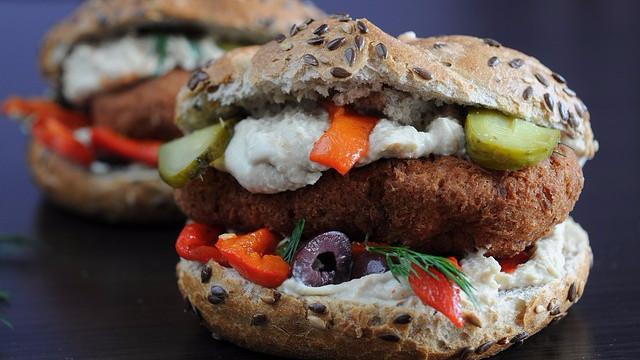 Vegetarsandwicher som denne er blevet mere populære blandt de amerikanske forbrugere. Foto: Pixabay