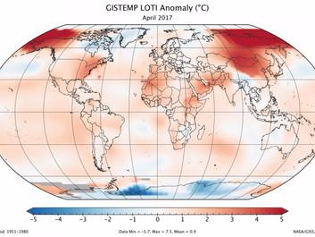 April blev den næstvarmeste nogensinde målt