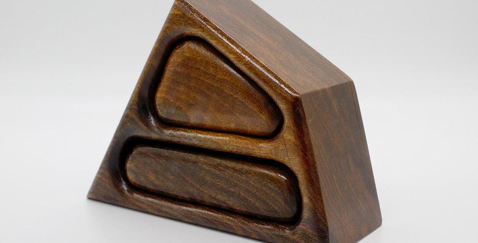 Abstract Walnut Jewellery Box