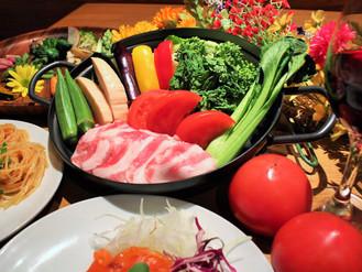 旬の春野菜で歓送迎会!