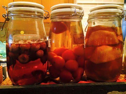 スターフルーツ、柚、ライチ、桃、のミックスフルーツ酒