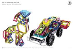 Infant toys magnetic toys.