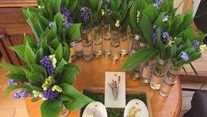 【開催しました】5月1日の月あそび*幸せを運ぶすずらんの布花ブローチ