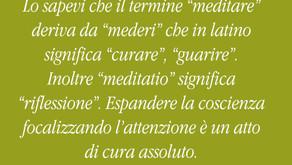 Il significato di meditazione