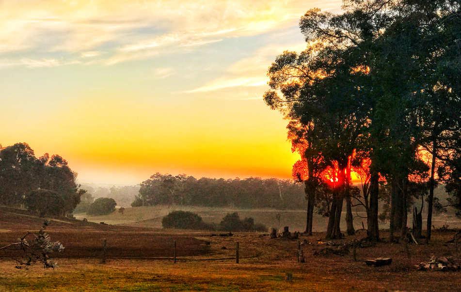 Valley View Autumn Sunrise