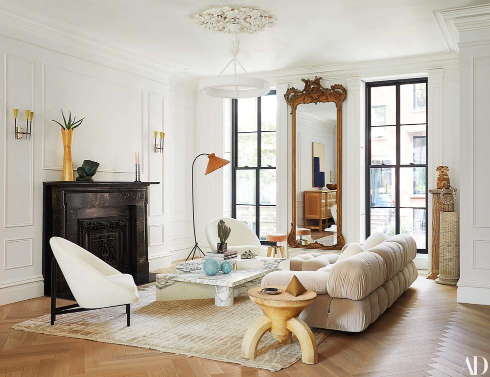 Decorist, Architectural Digest, Black Fireplace, Modern Design, White Interior